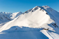 Stazione sciistica cattivo Gastein in montagne nevose di inverno, Austria, terra Salisburgo Fotografia Stock Libera da Diritti
