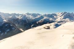 Stazione sciistica cattivo Gastein in montagne nevose di inverno, Austria, terra Salisburgo Immagine Stock