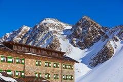 Stazione sciistica delle montagne - Innsbruck Austria Fotografie Stock Libere da Diritti