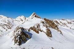 Stazione sciistica delle montagne - Innsbruck Austria Immagini Stock