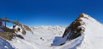 Stazione sciistica delle montagne - Innsbruck Austria Fotografia Stock