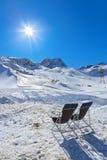 Stazione sciistica delle montagne - Innsbruck Austria Immagini Stock Libere da Diritti