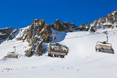 Stazione sciistica delle montagne - Innsbruck Austria Fotografie Stock