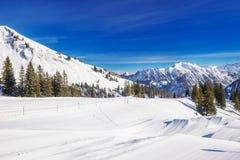 Stazione sciistica di Fellhorn, alpi bavaresi, Oberstdorf, Germania Fotografia Stock