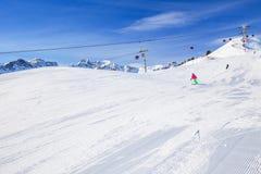Stazione sciistica di Fellhorn, alpi bavaresi, Oberstdorf, Germania Fotografia Stock Libera da Diritti