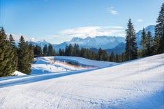 Stazione sciistica di Garmisch-Partenkirchen, alpi bavaresi, Germania Fotografia Stock