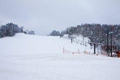 Stazione sciistica di inverno Fotografie Stock Libere da Diritti