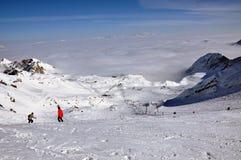 Stazione sciistica di Kitzsteinhorn, alpi austriache Fotografie Stock Libere da Diritti