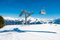 Stazione sciistica di Mayrhofen, Austria Fotografia Stock Libera da Diritti