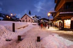 Stazione sciistica di Megeve alle alpi francesi Immagine Stock