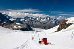 Stazione sciistica di Zermatt Fotografia Stock Libera da Diritti