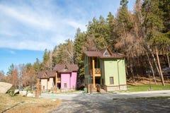 Stazione sciistica Forest Tale vicino ad Almaty, il Kazakistan Fotografie Stock Libere da Diritti