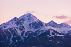 Stazione sciistica Innsbruck Austria delle montagne Fotografia Stock Libera da Diritti
