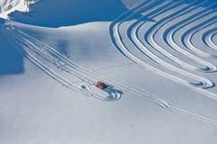 Stazione sciistica Kaprun, alpi austriache Immagini Stock