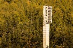 Stazione sciistica Medeo nel Kazakistan Immagine Stock