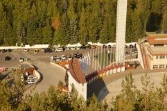 Stazione sciistica Medeo nel Kazakistan Fotografie Stock