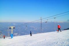 Stazione sciistica nei Carpathians Fotografia Stock Libera da Diritti
