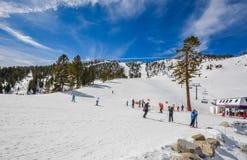 Stazione sciistica nel lago Tahoe immagine stock libera da diritti