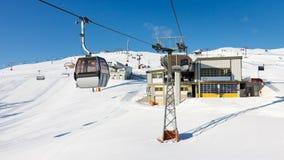 Stazione sciistica nel Tirolo del sud, Italia Fotografia Stock