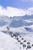 Stazione sciistica Obergurgl-Hochgurgl nelle alpi di Otztal, Austria Fotografie Stock