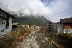 Stazione sciistica, piccolo villaggio Mayrhofen Austria Fotografia Stock Libera da Diritti