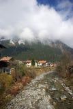 Stazione sciistica, piccolo villaggio Mayrhofen Austria Fotografia Stock
