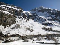 Stazione sciistica Tignes, Val D'Isere Fotografia Stock