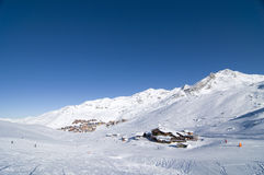 Stazione sciistica, Val Thorens, Francia Fotografia Stock