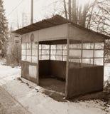 Stazione secondaria molto vecchia Fotografia Stock Libera da Diritti