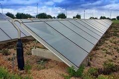 Stazione solare del riscaldamento dell'acqua Fotografia Stock Libera da Diritti