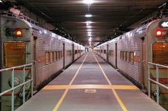 Stazione sotterranea astratta Fotografia Stock Libera da Diritti