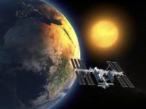 Stazione Spaziale Internazionale illustrazione di stock