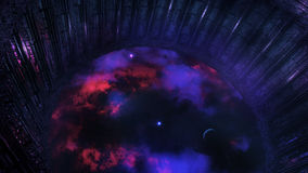 Stazione spaziale straniera osservando universo Fotografia Stock Libera da Diritti