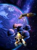 Sation orbitale Immagine Stock