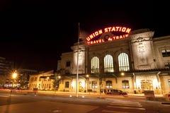 Stazione storica del sindacato a Denver Colorado fotografia stock libera da diritti