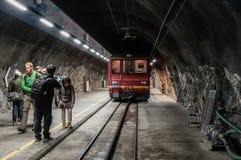 Stazione Svizzera di Jungfraujoch fotografie stock libere da diritti