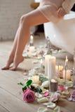 Stazione termale, bellezza e concetto del bagno di benessere Fotografia Stock Libera da Diritti
