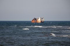 Stazione termale crimean Sea giro Nave Sunken immagine stock