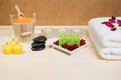 stazione termale degli elementi del bagno Fotografia Stock