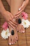 Pedicure e manicure Immagini Stock