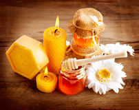 Stazione termale del miele Immagini Stock