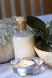 Stazione termale del rosmarino e della salvia impostata - aromatherapy Fotografia Stock
