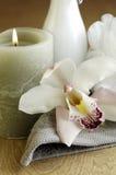 Stazione termale dell'orchidea Fotografie Stock