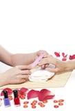 Stazione termale delle mani. Concetto del manicure Fotografia Stock Libera da Diritti