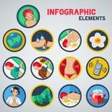 Stazione termale di Infographic Fotografie Stock Libere da Diritti