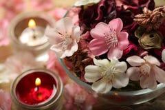 Stazione termale di sera aromatherapy Fotografie Stock Libere da Diritti