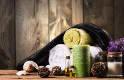 Stazione termale e massaggio fotografie stock libere da diritti