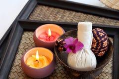 Stazione termale tailandese e massaggio Fotografie Stock Libere da Diritti
