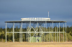 Stazione a terra di VOR del segnale radio Immagine Stock Libera da Diritti