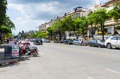 Stazione turistica della via del Ao Nang. Fotografie Stock Libere da Diritti
